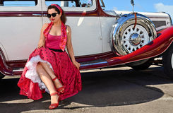Αναδρομική επίδειξη μόδας στοκ φωτογραφία με δικαίωμα ελεύθερης χρήσης