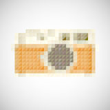 Αναδρομική κάμερα εικονιδίων με το χειρωνακτικό φακό Στοκ φωτογραφία με δικαίωμα ελεύθερης χρήσης