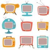 αναδρομική καθορισμένη TV Στοκ Εικόνες