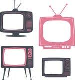 αναδρομική καθορισμένη TV Στοκ φωτογραφία με δικαίωμα ελεύθερης χρήσης