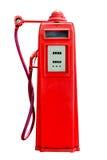 Αναδρομική κόκκινη αντλία βενζίνης βενζίνης που απομονώνεται στο άσπρο υπόβαθρο, συνδετήρας Στοκ εικόνες με δικαίωμα ελεύθερης χρήσης