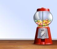 Αναδρομική μηχανή gumball στο πάτωμα απεικόνιση αποθεμάτων