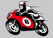 Αναδρομική μοτοσικλέτα αγώνα ελεύθερη απεικόνιση δικαιώματος