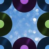 Αναδρομική μουσική σχεδίων στο υπόβαθρο θαμπάδων, άνευ ραφής Στοκ φωτογραφία με δικαίωμα ελεύθερης χρήσης