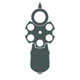 Αναδρομική μπροστινή όψη πυροβόλων όπλων Στοκ φωτογραφία με δικαίωμα ελεύθερης χρήσης