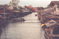Αναδρομική να επιπλεύσει αγορά στην Ταϊλάνδη Στοκ φωτογραφία με δικαίωμα ελεύθερης χρήσης