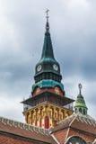 Αναδρομική οικοδόμηση της αίθουσας πόλεων στην πόλη Subotica, Σερβία Στοκ φωτογραφία με δικαίωμα ελεύθερης χρήσης