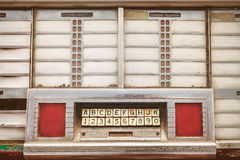 Αναδρομική ορισμένη εικόνα ενός παλαιού jukebox Στοκ Φωτογραφίες