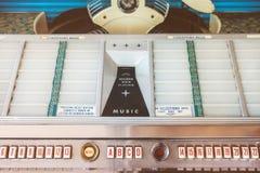 Αναδρομική ορισμένη εικόνα ενός παλαιού jukebox Στοκ εικόνες με δικαίωμα ελεύθερης χρήσης