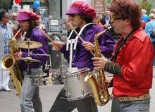 αναδρομική ορχήστρα πνευστ0ών από χαλκό της δεκαετίας του '70 Στοκ φωτογραφία με δικαίωμα ελεύθερης χρήσης