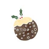 αναδρομική πουτίγκα Χριστουγέννων κινούμενων σχεδίων Στοκ φωτογραφίες με δικαίωμα ελεύθερης χρήσης