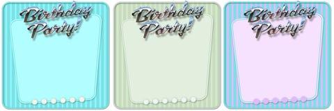 Αναδρομική πρόσκληση γιορτής γενεθλίων Στοκ Εικόνες