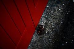 Αναδρομική ρόδα πορτών γκαράζ Στοκ φωτογραφία με δικαίωμα ελεύθερης χρήσης
