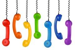 Αναδρομική σειρά μικροτηλεφώνων στοκ φωτογραφία