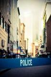 Αναδρομική σκηνή εγκλήματος πόλεων Στοκ Εικόνα