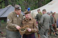 Αναδρομική στρατιωτική στολή WWII Στοκ Εικόνες