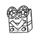 Αναδρομική συσκευή μασουριών, βιομηχανία κινηματογράφων Στοκ Εικόνα