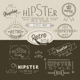 Αναδρομική συλλογή γραμματοσήμων hipster Στοκ Φωτογραφία