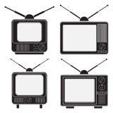 Αναδρομική συλλογή συσκευών τηλεόρασης ελεύθερη απεικόνιση δικαιώματος