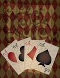 αναδρομική ταπετσαρία ύφους πόκερ Στοκ εικόνα με δικαίωμα ελεύθερης χρήσης