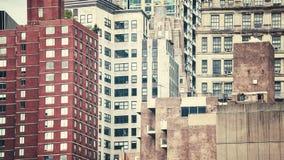 Αναδρομική τονισμένη εικόνα των κτηρίων του Μανχάταν, NYC στοκ φωτογραφίες
