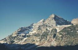 Αναδρομική τονισμένη καφέ σειρά βουνών κουδουνιών, ΗΠΑ Στοκ Εικόνες