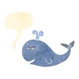 αναδρομική φάλαινα κινούμενων σχεδίων διανυσματική απεικόνιση