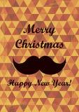 Αναδρομική Χαρούμενα Χριστούγεννα και νέα κάρτα ετών. Εκλεκτής ποιότητας ύφος. Στοκ φωτογραφία με δικαίωμα ελεύθερης χρήσης