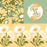 Αναδρομική floral ανασκόπηση Στοκ Εικόνες