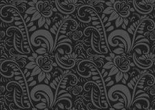 Αναδρομική floral ταπετσαρία. Άνευ ραφής Στοκ Εικόνες