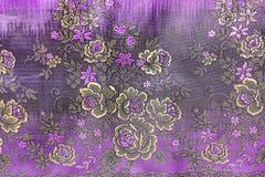 Αναδρομική floral ταπετσαρία Στοκ φωτογραφία με δικαίωμα ελεύθερης χρήσης