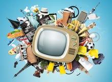 αναδρομική TV Στοκ εικόνες με δικαίωμα ελεύθερης χρήσης