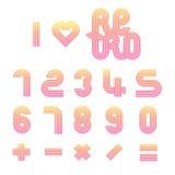 Αναδρομικοί αριθμοί μηδέν έως εννέα Στοκ Εικόνες