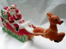 Αναδρομικοί Santa και τάρανδος Στοκ φωτογραφίες με δικαίωμα ελεύθερης χρήσης