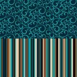 Αναδρομικός άνευ ραφής, σχέδιο με τα λωρίδες χρώματος Στοκ φωτογραφίες με δικαίωμα ελεύθερης χρήσης
