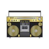Αναδρομικός ακουστικός φορέας σε ένα επίπεδο ύφος Διανυσματική απεικόνιση για μια κάρτα ή αφίσα, τυπωμένη ύλη στα ενδύματα μουσικ απεικόνιση αποθεμάτων