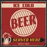 Αναδρομικός πάγος - κρύα αφίσα μπύρας Στοκ Φωτογραφία