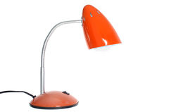 Αναδρομικός πορτοκαλής επιτραπέζιος λαμπτήρας Στοκ εικόνα με δικαίωμα ελεύθερης χρήσης