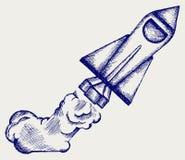 Αναδρομικός πύραυλος Στοκ φωτογραφία με δικαίωμα ελεύθερης χρήσης