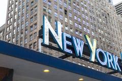 Αναδρομικός τίτλος της Νέας Υόρκης στοκ εικόνες