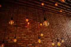 Αναδρομικός τρύγος ινών λαμπών φωτός Στοκ Εικόνα