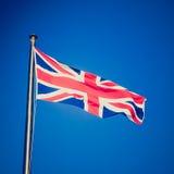 Αναδρομικός φανείτε βρετανική σημαία στοκ εικόνα