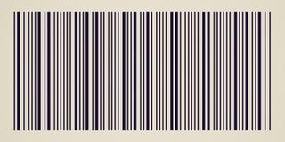 Αναδρομικός φανείτε γραμμωτός κώδικας στοκ φωτογραφία με δικαίωμα ελεύθερης χρήσης