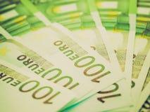 Αναδρομικός φανείτε εικόνα ευρώ Στοκ Εικόνες