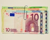 Αναδρομικός φανείτε εικόνα ευρώ Στοκ Φωτογραφία
