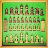 Αναδρομικός φανείτε εικόνα σκακιού Στοκ Εικόνες