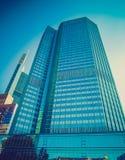 Αναδρομικός φανείτε Ευρωπαϊκή Κεντρική Τράπεζα στη Φρανκφούρτη Στοκ Εικόνες