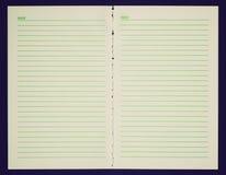 Αναδρομικός φανείτε κενή σελίδα σημειωματάριων Στοκ Εικόνες