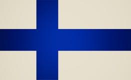 Αναδρομικός φανείτε σημαία της Φινλανδίας διανυσματική απεικόνιση