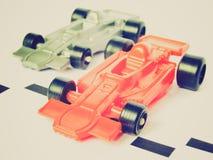 Αναδρομικός φανείτε F1 αγωνιστικό αυτοκίνητο Formula 1 Στοκ Εικόνα